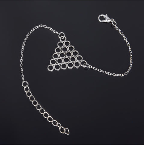 Silver Triangle Honeycomb Bracelet
