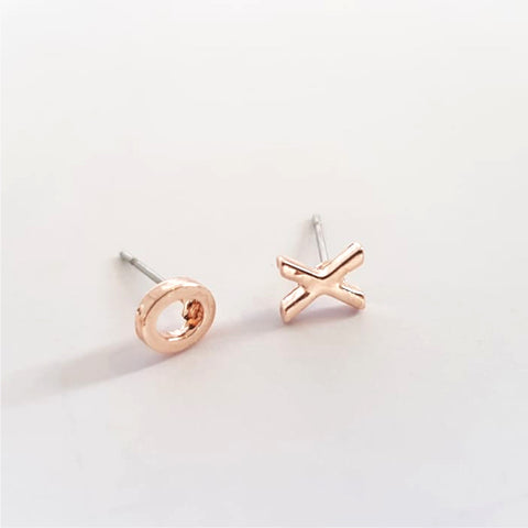 Rose Gold XO Earrings