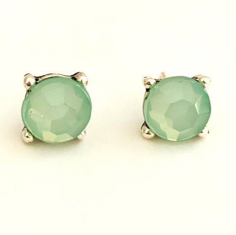 Pale Turquoise Round Studs