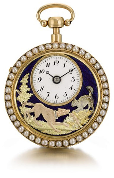 """The Barking Dog"" quarter repeating automation pocket watch by Piguet & Meylan Made for the Chinese Market"