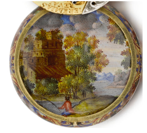 The Huaud brothers were exacting in their work, painting even the inside of their watch cases