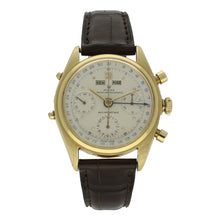 Load image into Gallery viewer, 18ct yellow gold, reference 4767 'Jean-Claude Killy' chronograph wristwatch. Circa 1947