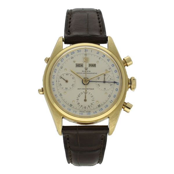 18ct yellow gold chronograph Jean Claude Killy wristwatch Ref: 4767 by Rolex c. 1947