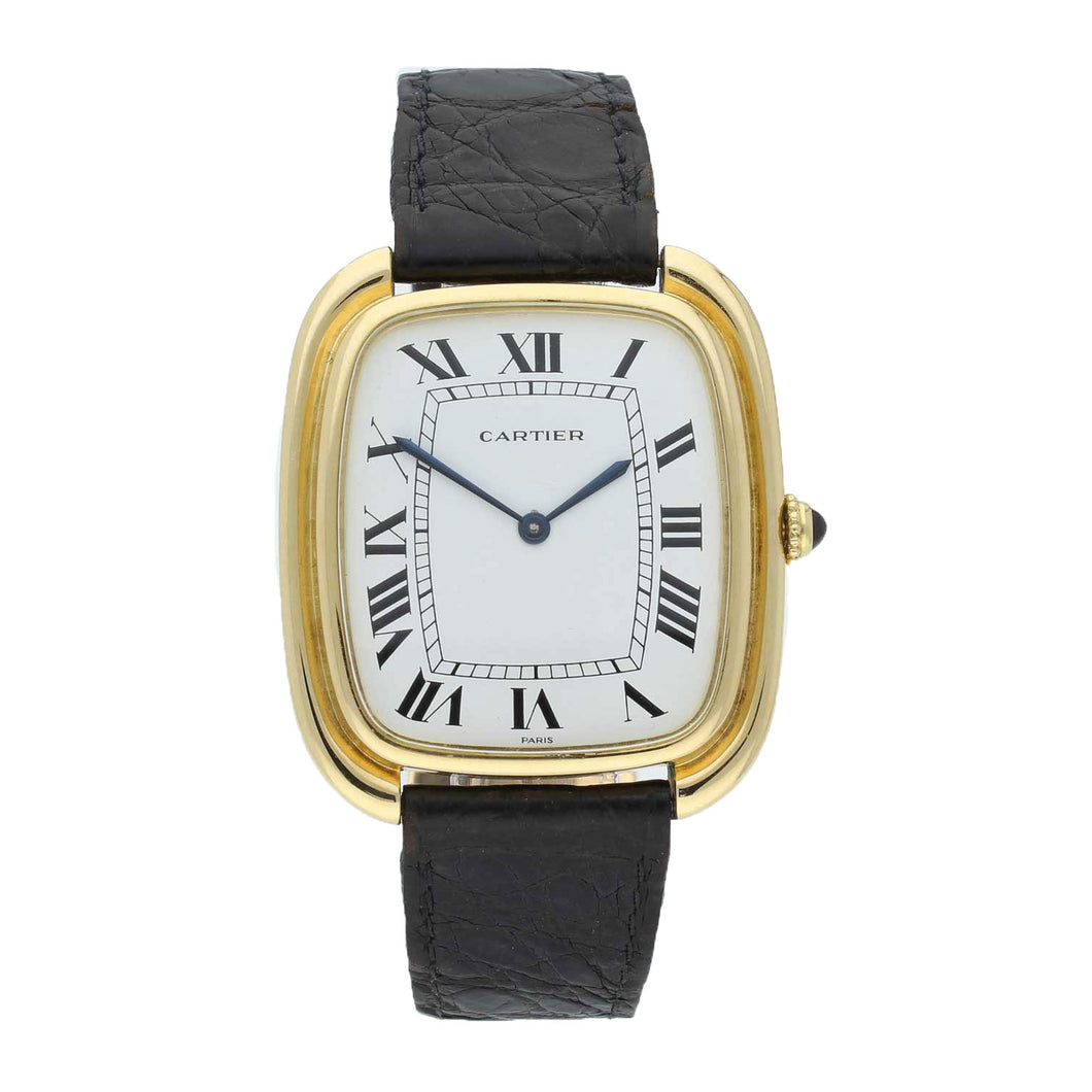 18ct yellow gold Gondole wristwatch. Circa 1970