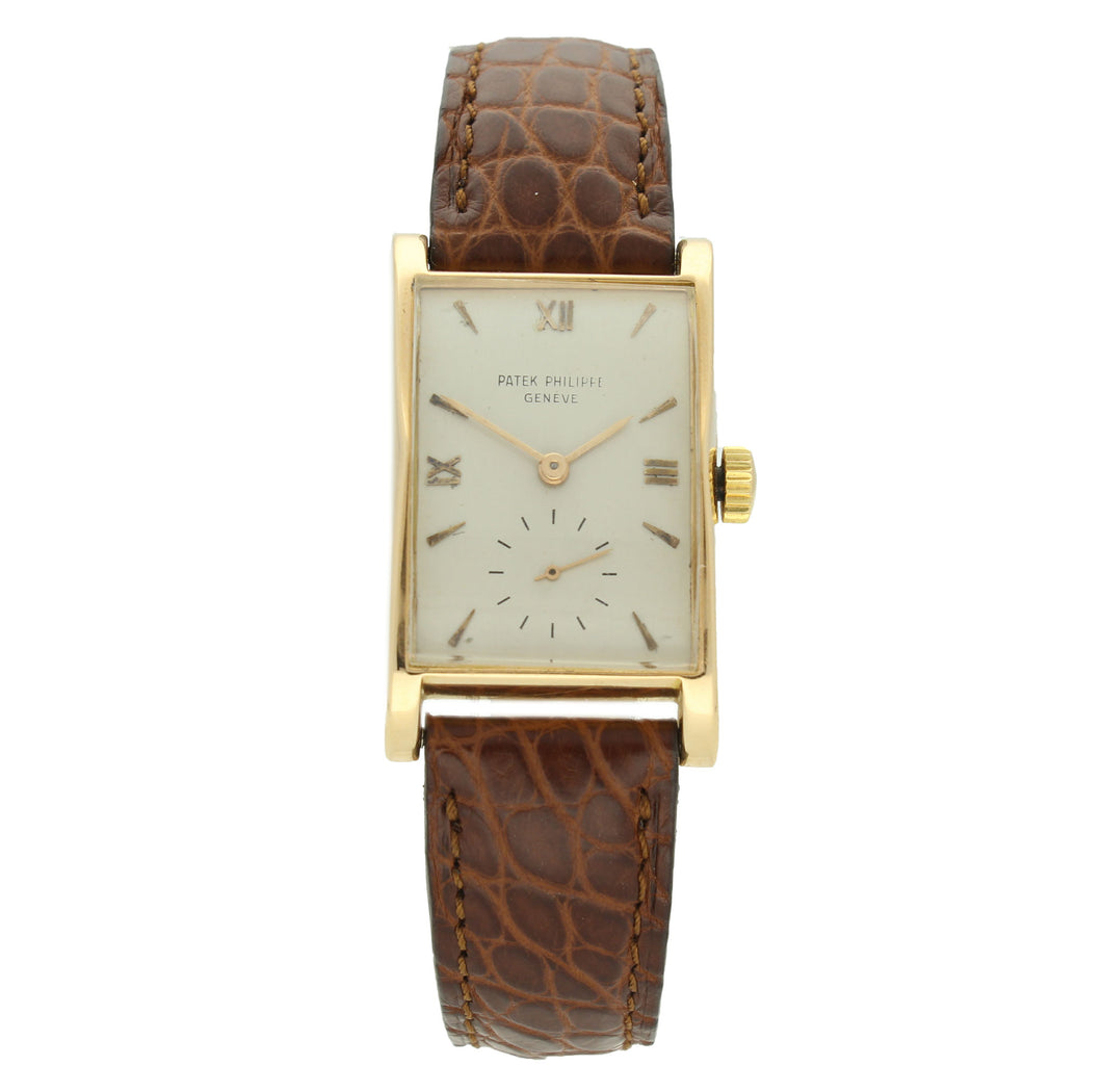 18ct rose gold, reference 1588 wristwatch. Made 1950