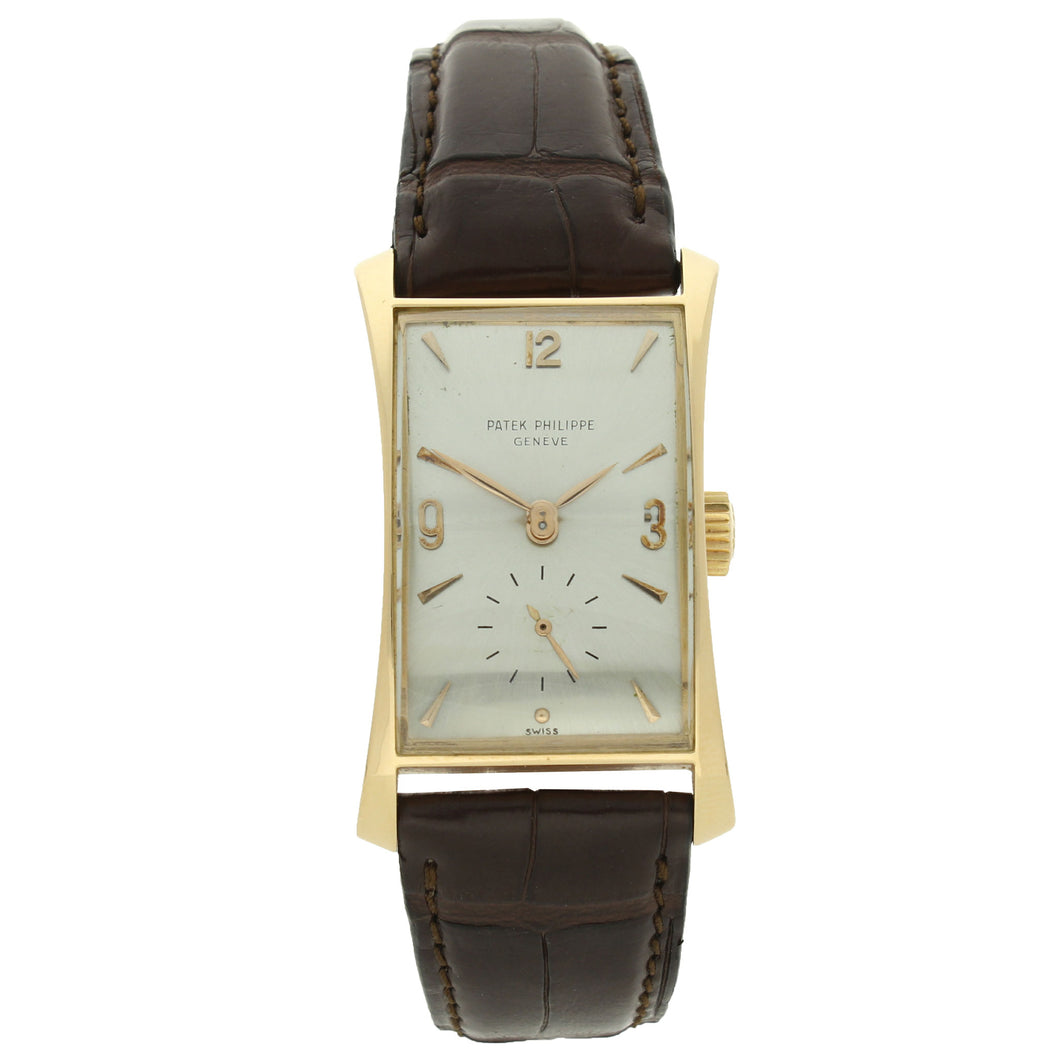 18ct rose gold, reference 1593 wristwatch. Made 1951