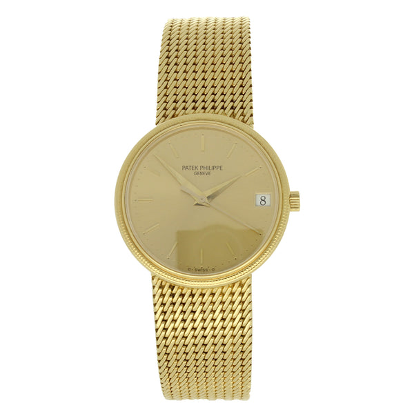 1997 18ct yellow gold bracelet watch Ref: 3802/2055 by Patek Philippe