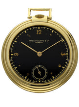 Load image into Gallery viewer, 18ct yellow gold, reference 677 open face pocket watch. Made 1938