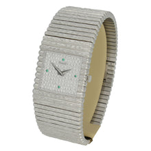 Load image into Gallery viewer, 18ct white gold ' square cased', ''Emperador'' bracelet watch with diamond set dial. Circa 1970