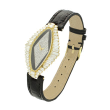 Load image into Gallery viewer, 18ct yellow gold and diamond set 'Lozenge' shaped wristwatch. Circa 1977