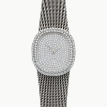Load image into Gallery viewer, 18ct white gold and diamond set, reference 3624/1 bracelet watch. Made 1974