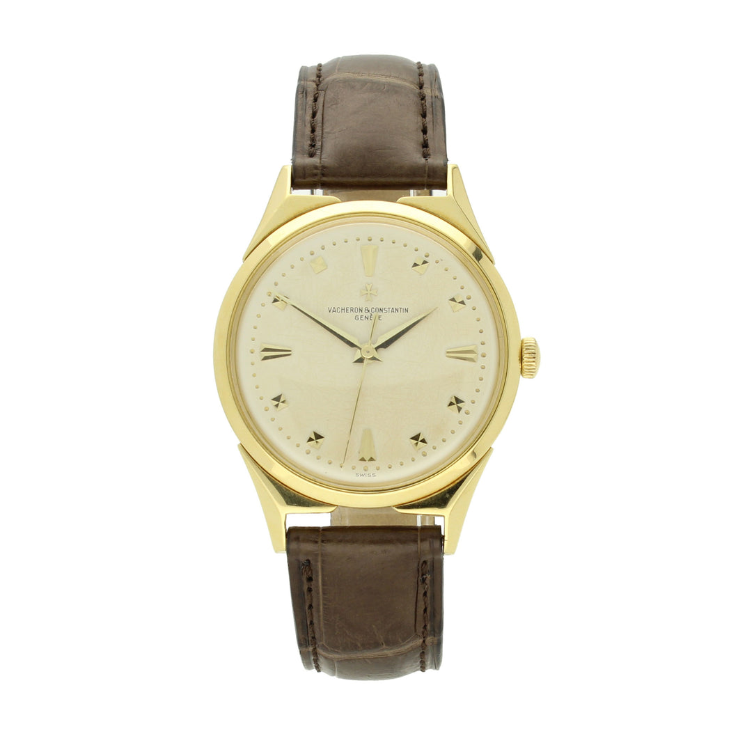 18ct yellow gold, reference 6111 Chronomètre Royal wristwatch. Made 1957