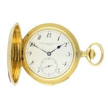 Load image into Gallery viewer, 18ct yellow gold hunter case minute repeating pocket watch. Made 1892