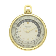 Load image into Gallery viewer, 18ct yellow gold, reference 605HU 'World Time' pocket watch. Made 1946