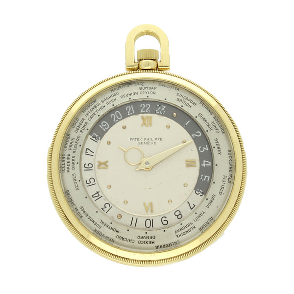 1946 18ct yellow gold 'World Time' pocket watch Ref: 605HU by Patek Philippe