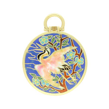 Load image into Gallery viewer, 18ct yellow gold open face pocket watch with Chinese enamel scene. Circa 1920.