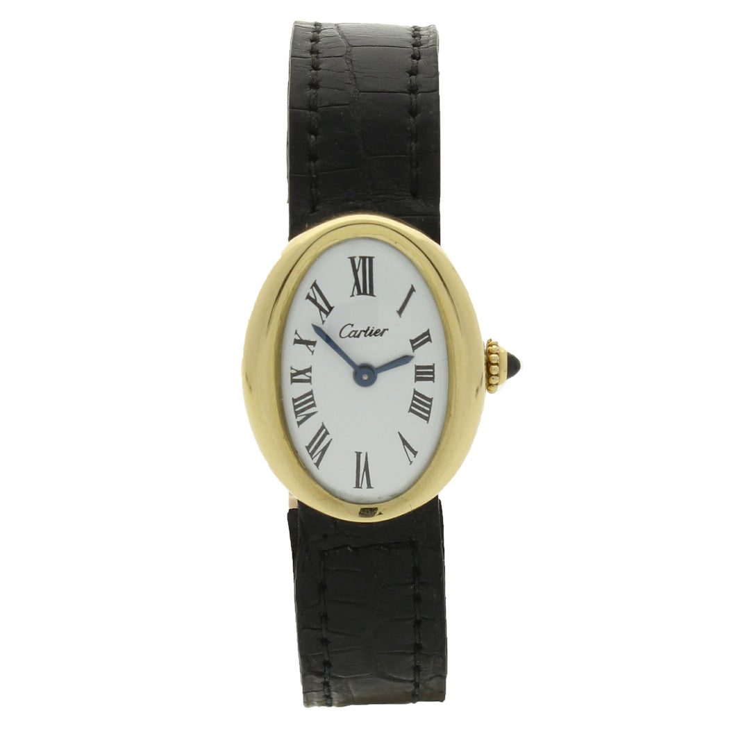 18ct yellow gold Baignoire - London wristwatch. Circa 1968