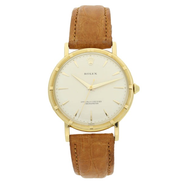 18ct yellow gold chronometer wristwatch Ref: 8952 by Rolex c. 1955