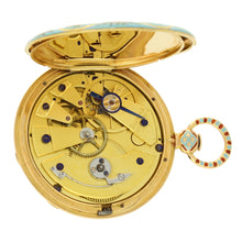 Load image into Gallery viewer, 18ct Gold and enamel Swiss pocket watch c. 1840 Made for Turkish market