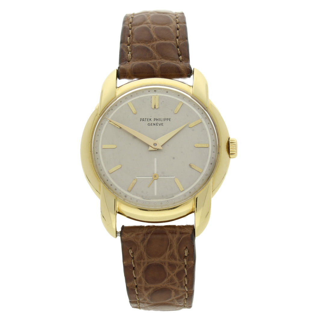 18ct yellow gold, reference 2536 wristwatch. Made 1955