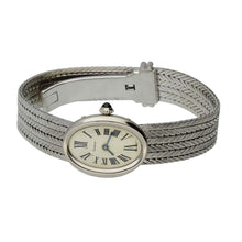 Load image into Gallery viewer, 18ct white gold Baignoire London bracelet watch. Circa 1966