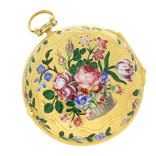 Load image into Gallery viewer, 18ct gold and enamel pair case verge watch by Henry Hindley. Circa 1758