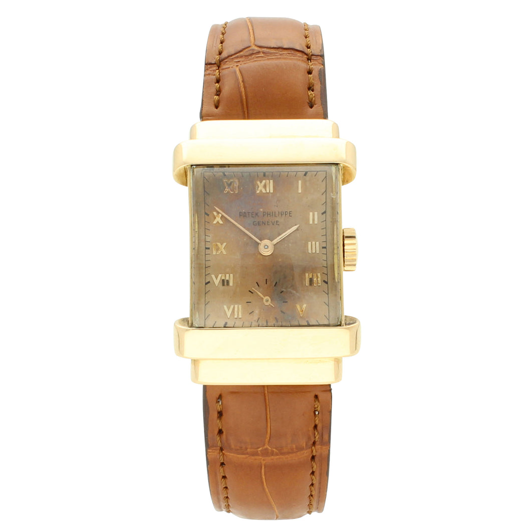 1945 18ct Rose gold 'Top hat' wristwatch by Patek Philippe