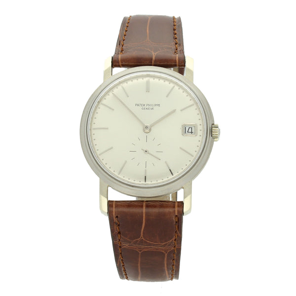 1970 18ct white gold automatic wristwatch with date Ref: 3445 by Patek Philippe