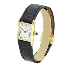 Load image into Gallery viewer, 18ct yellow gold mini Tank wristwatch. Circa 1970