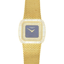 Load image into Gallery viewer, 18ct yellow gold and diamond set, reference 3625/1 bracelet watch. Made 1981