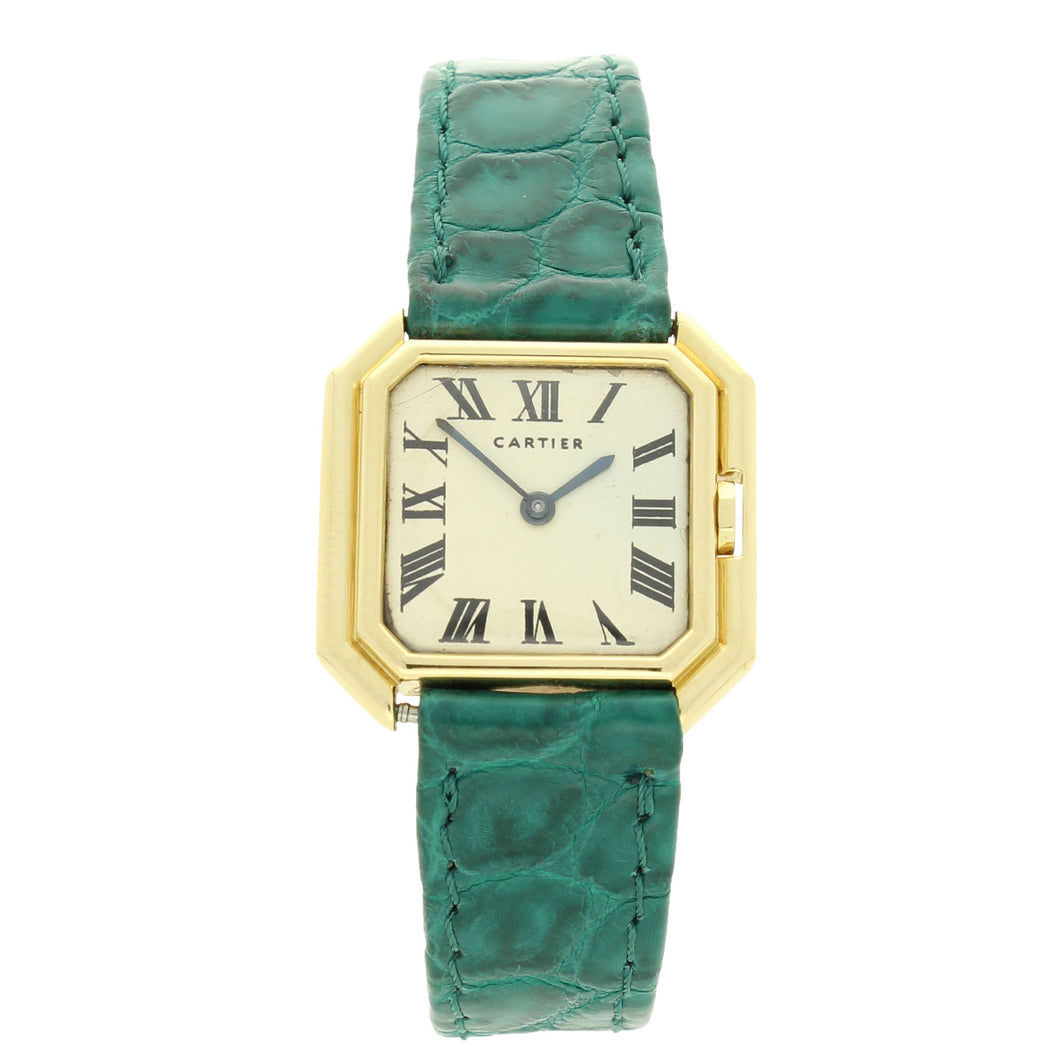 18ct yellow gold Ceinture - London wristwatch. Circa 1970