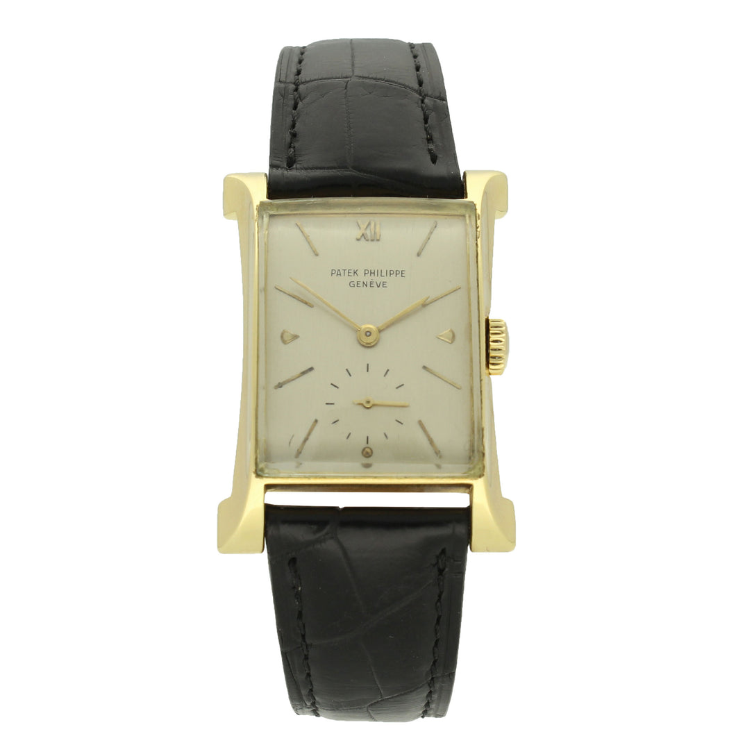 18ct yellow gold, reference 2441 wristwatch. Made 1949