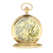 Load image into Gallery viewer, 14ct yellow gold single button chronograph pocket watch. Made 1912