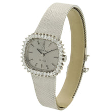 Load image into Gallery viewer, 18ct white gold and diamond set DeVille bracelet watch. Made 1974