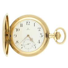 Load image into Gallery viewer, 14ct yellow gold hunter case pocket watch. Made 1896