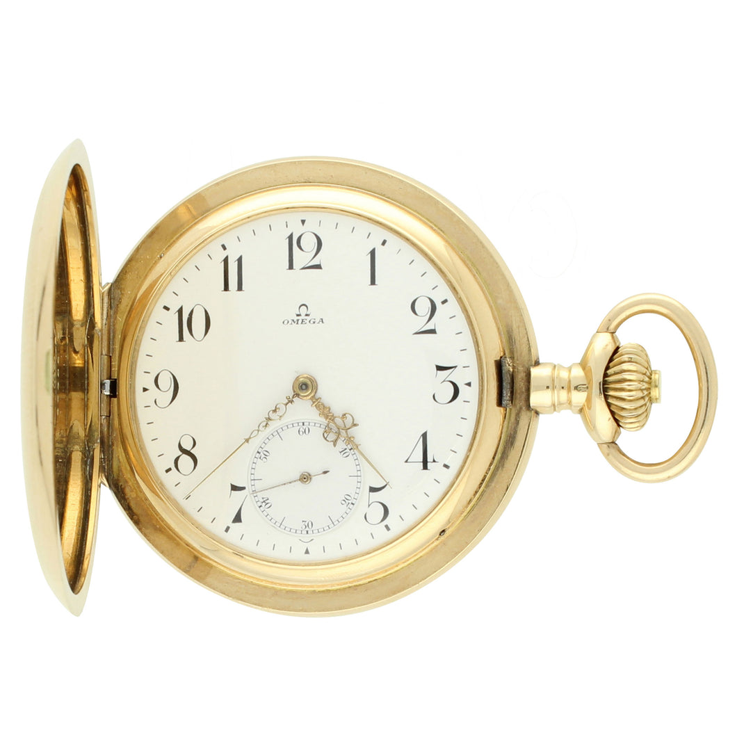 14ct yellow gold hunter case pocket watch. Made 1896