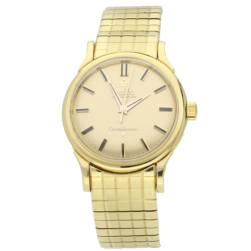 18ct yellow gold Constellation 'Grand Luxe' automatic chronometer bracelet watch. Made 1959