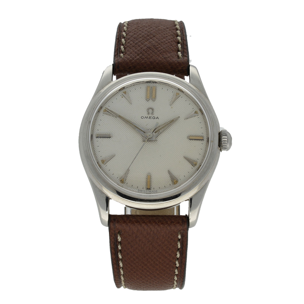 Stainless steel automatic dress wristwatch. Made 1954