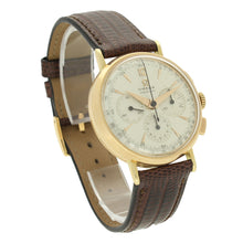 Load image into Gallery viewer, 18ct rose gold chronograph wristwatch. Made 1947