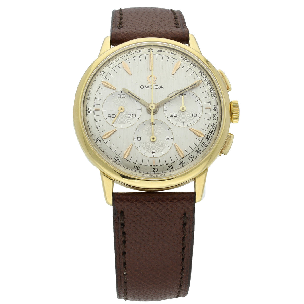 18ct yellow gold chronograph wristwatch. Made 1966