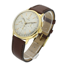 Load image into Gallery viewer, 18ct yellow gold chronograph wristwatch. Made 1966