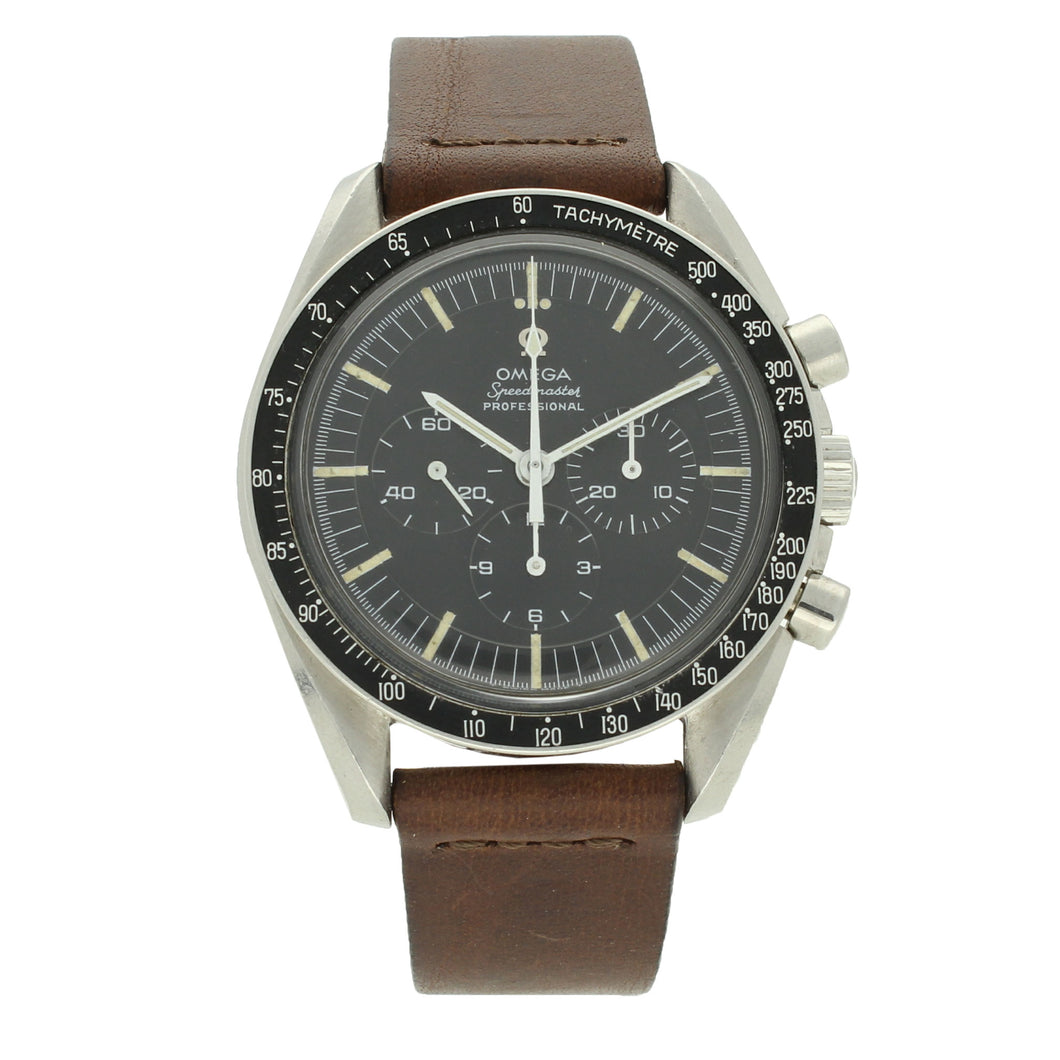 Stainless steel Speedmaster Professional chronograph wristwatch. Made 1968