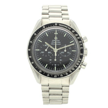 Load image into Gallery viewer, Stainless steel Speedmaster 'Straight case writing' Professional chronograph wristwatch. Made 1971