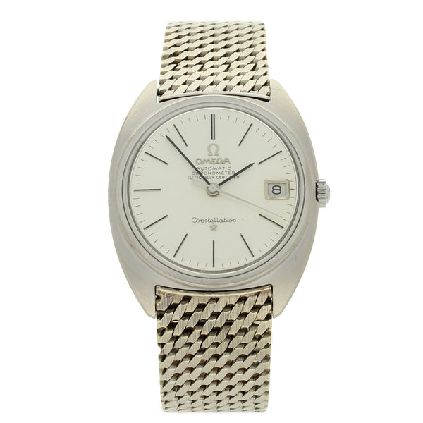 1966 18ct white gold Constellation 'C' wristwatch on bracelet by OMEGA
