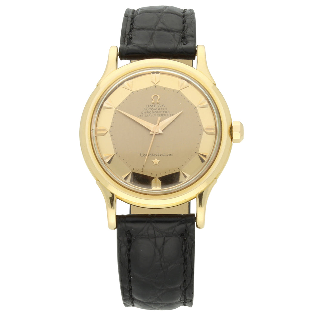 18ct rose gold Constellation automatic chronometer wristwatch. Made 1953