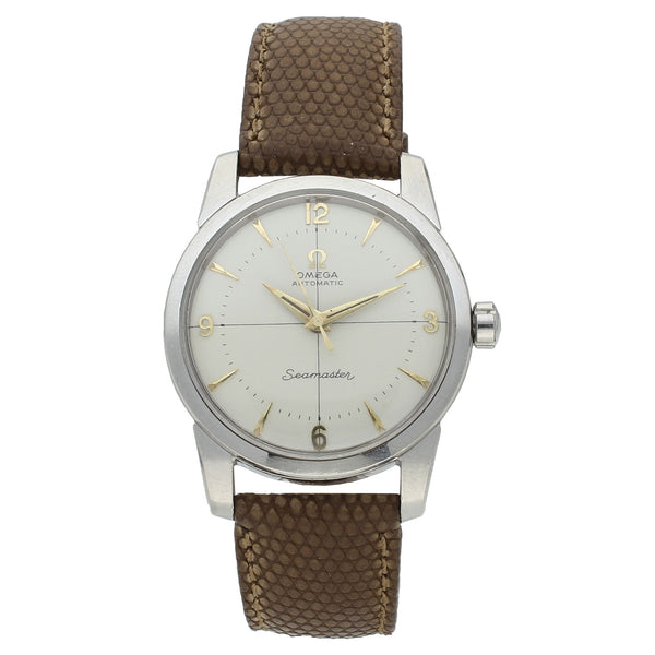 Stainless steel OMEGA Seamaster automatic dress watch c. 1956