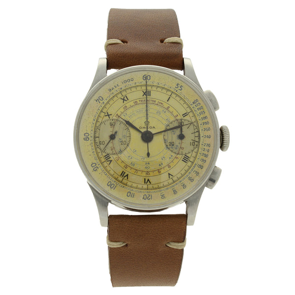 1944 Stainless steel chronograph wristwatch by OMEGA