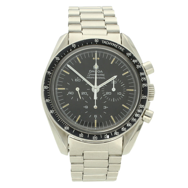 1970 Stainless steel Speedmaster Ref: 145.022 wristwatch with misprinted bezel by OMEGA