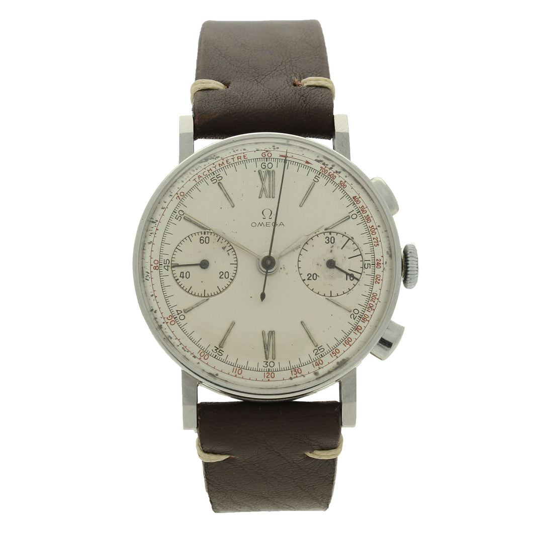 Stainless steel chronograph 33.3 wristwatch. Made 1935