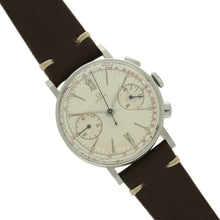 Load image into Gallery viewer, Stainless steel chronograph 33.3 wristwatch. Made 1935